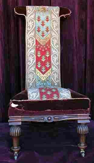 Antique Praying Perdeiu Chair