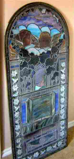 Angels In The Clouds Window Att. To Tiffany, 1900