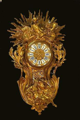 Large 19th Century Ormolu Cartel Wall Clock