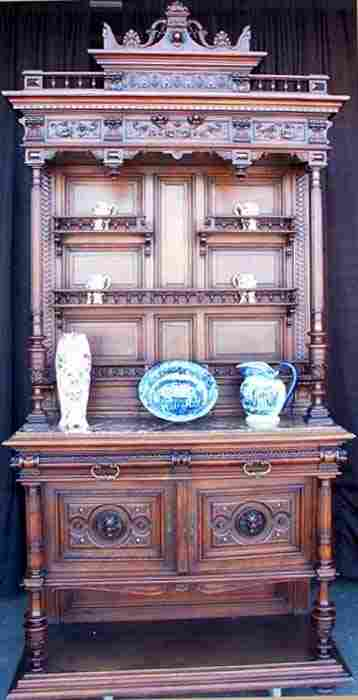 19th Century French Display Cupboard /Fine Detail