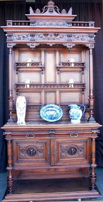 0419: 19th Century French Display Cupboard /Fine Detail