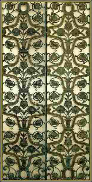 Set Of Beautiful 6 Bronze Floral Doors