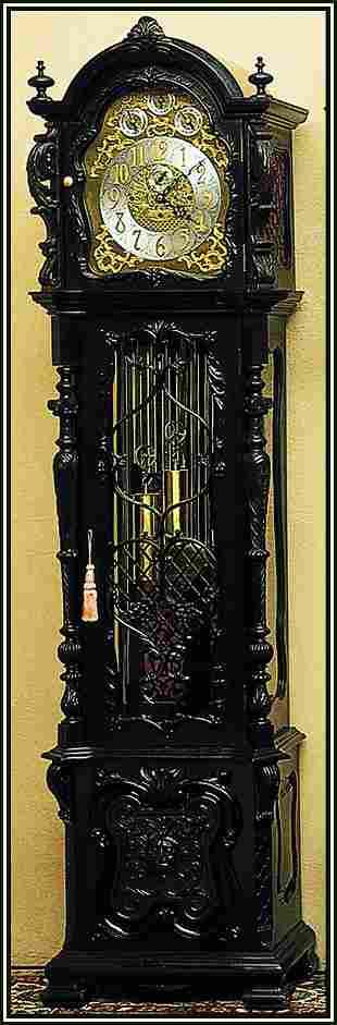 English Chiming Hall Clock, JJ Elliot, 1880