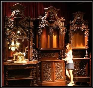 19th Century Venetian Carved Walnut Cabinet