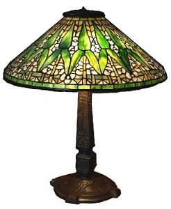"1294: Authentic Antique Tiffany 20"" Arrow Root Lamp"