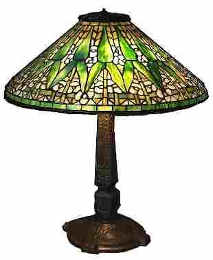 "Authentic Antique Tiffany 20"" Arrow Root Lamp"