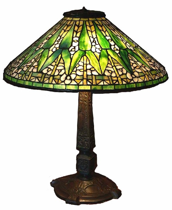 "1294: Authentic Antique Tiffany 20"" Arrow Root Lamp"
