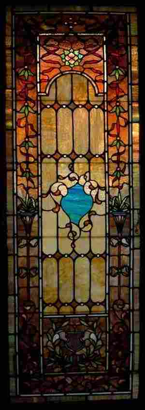 Rudi Brothers Stained & Leaded Glass Window, 1910