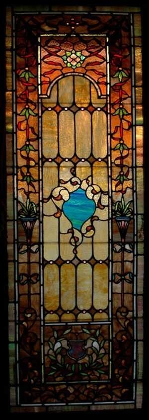 1373: Rudi Brothers Stained & Leaded Glass Window, 1910