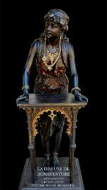 1019: 19th Century Lifesize Gypsy Fortune Teller From P