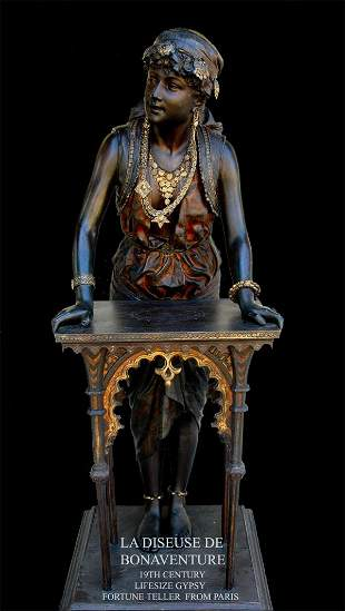 19th Century Lifesize Gypsy Fortune Teller From P