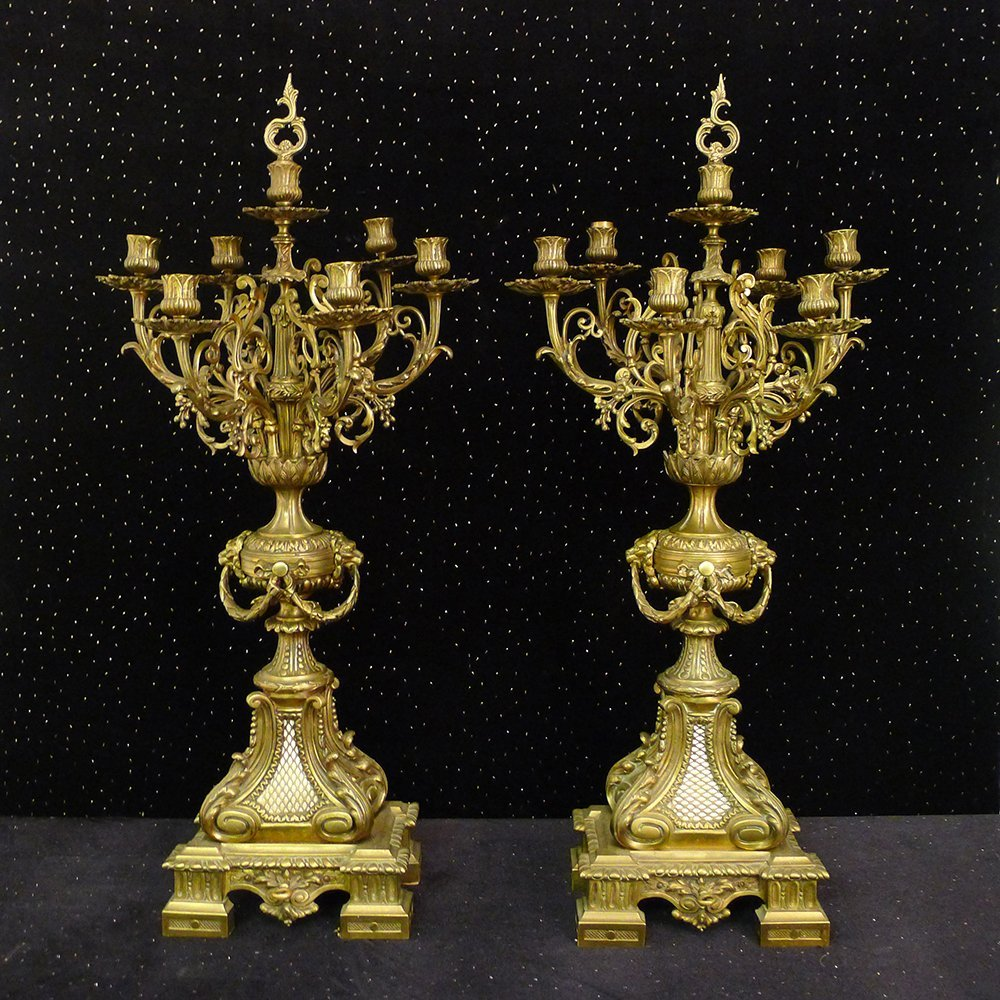 1: Pair of 19th Century Candelabras