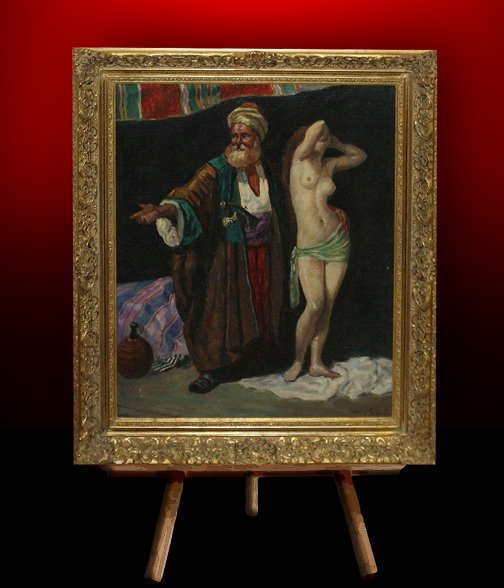 24: Oil on Canvas of Slave Trader