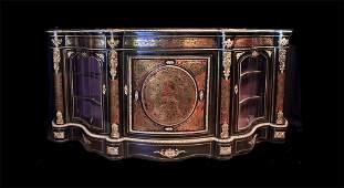 158: 19th Century Boulle Vitrine Cabinet