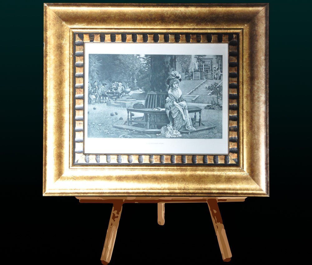 "Framed Print of Maiden. Titled ""A Gamblers Wife"""