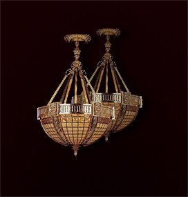One of a Pair of Beautiful Bronze Chandeliers