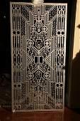 Ornate Art Deco Iron Entry Door