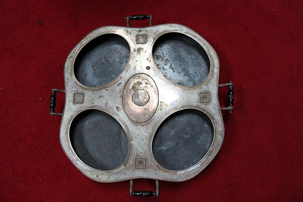 Large 19th Century Silver Plated Serving Tray