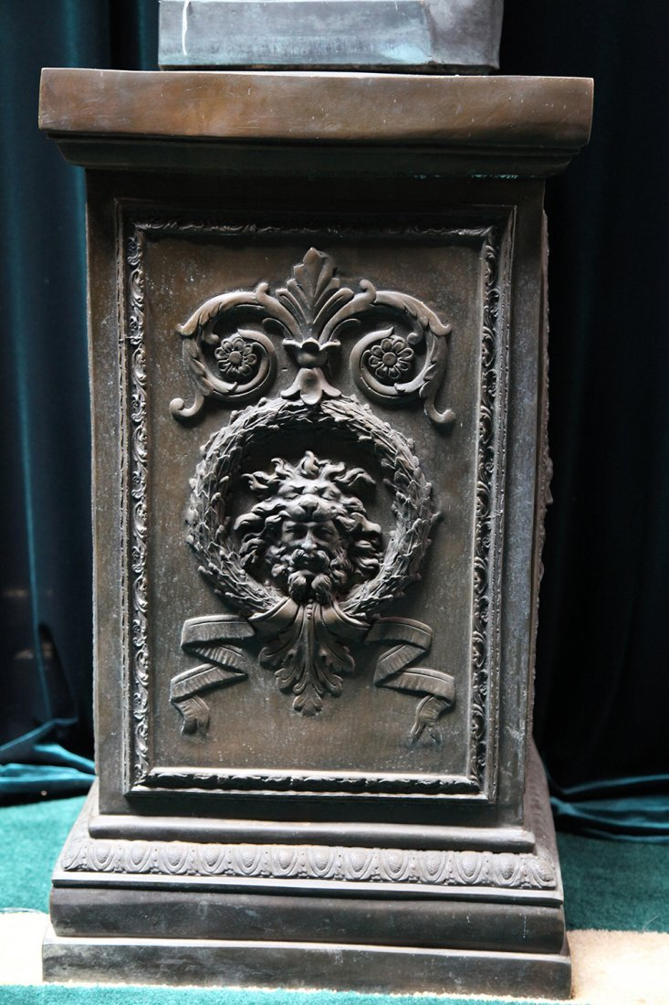 One of a Pair of 19th Century Casted Bronze Pedestals