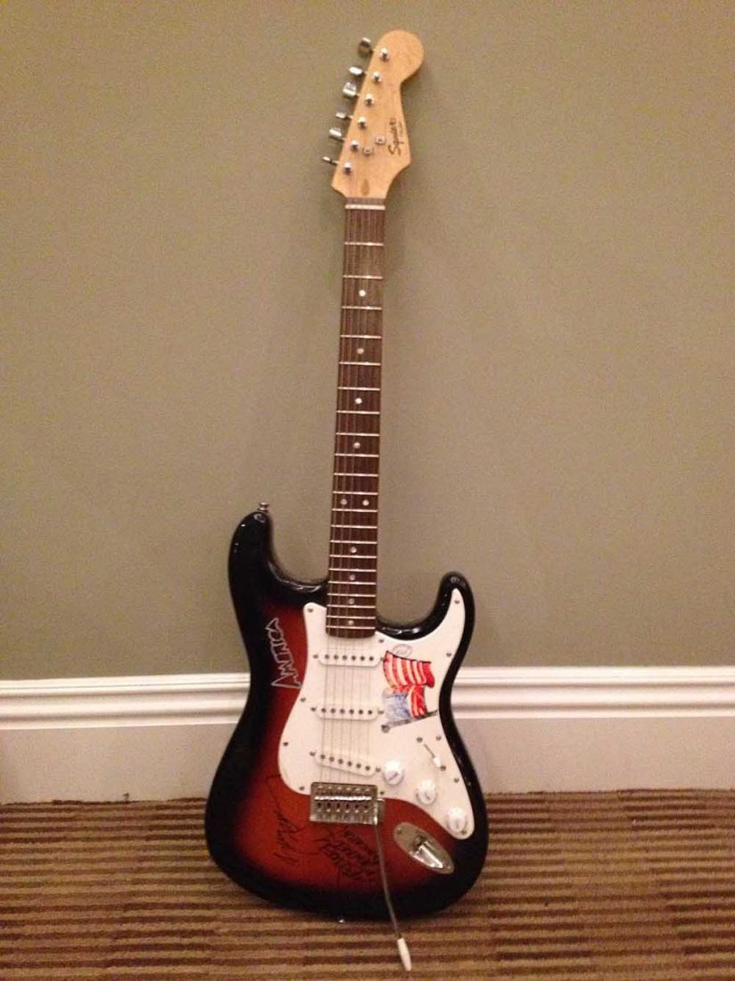 Guitar Signed by Gerry Beckley and Dewey Bunnell
