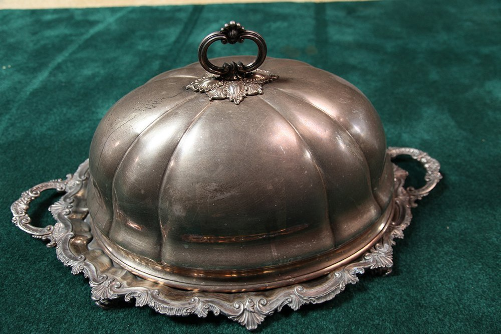 Large 19th Century Silver Plated Platter