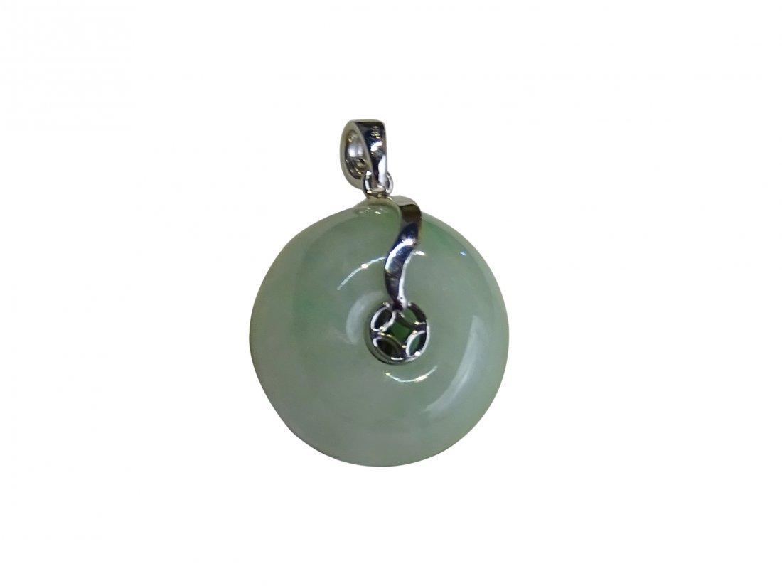 Jadeite Button Shape Pendant