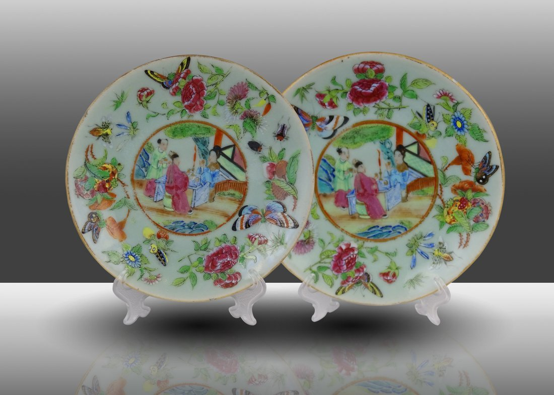 A Pair of Plates Qing Dynasty(Jia Qing)