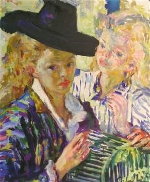 Luigi Corbellini Italian, 1901-1968 TWO YOUNG WOMEN
