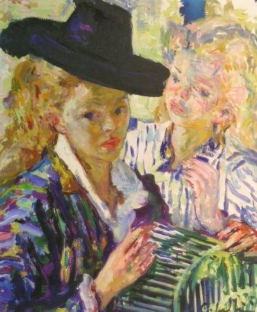 3: Luigi Corbellini Italian, 1901-1968 TWO YOUNG WOMEN