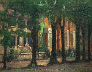 Albert Lorey Groll American, 1866-1952 TREE-LINED ST