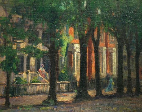 4: Albert Lorey Groll American, 1866-1952 TREE-LINED ST