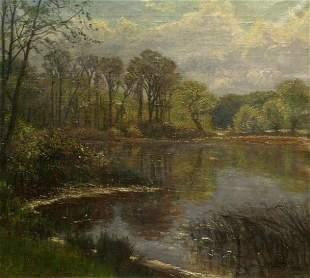 Olaf Viggo Peter Langer German, 1860-1942 LANDSCAPE