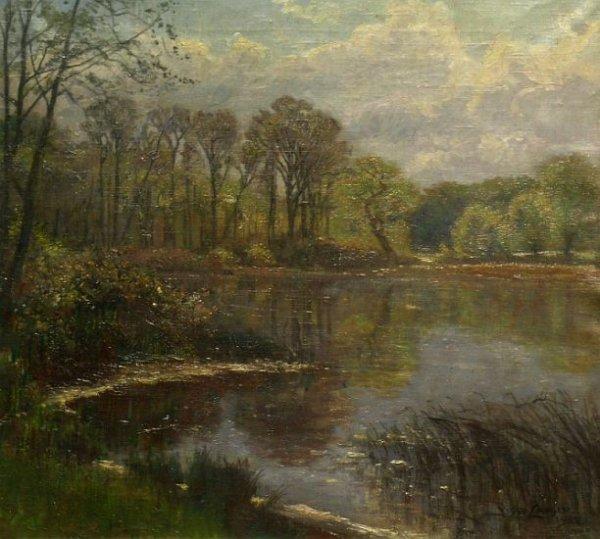 16: Olaf Viggo Peter Langer German, 1860-1942 LANDSCAPE