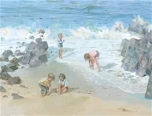 James Le Jeune British, 1910-1983 CHILDREN ON THE B