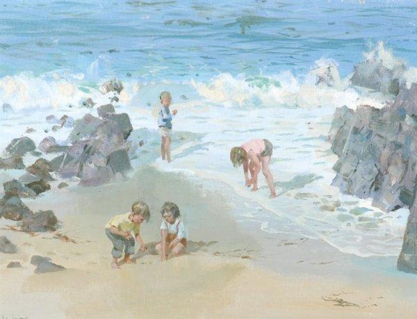 17: James Le Jeune British, 1910-1983 CHILDREN ON THE B
