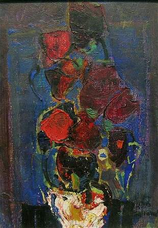 Zvi Mairovich Israeli, 1911-1973 FLORAL STILL LIFE