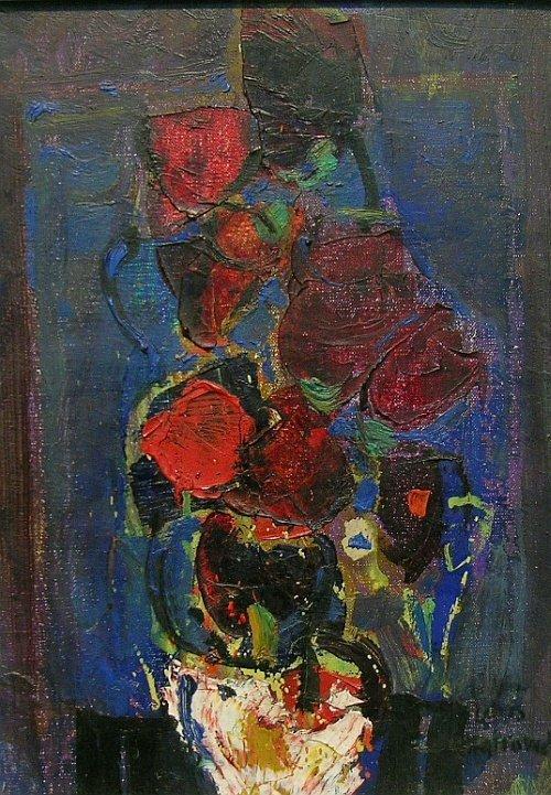 20: Zvi Mairovich Israeli, 1911-1973 FLORAL STILL LIFE