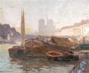 Henry Hobart Nichols American, 1869-1962 PORT SCENE