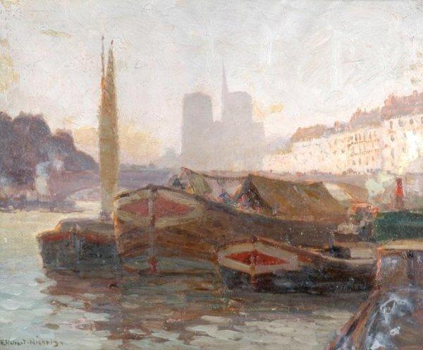 22: Henry Hobart Nichols American, 1869-1962 PORT SCENE