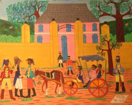 23: Michel M. Obin Haitian, 20th century CAP HAITIAN