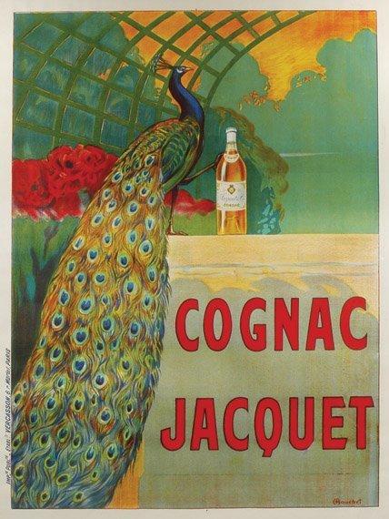 144: Camille Bouchet COGNAC JACQUET Color lithograph