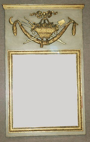 462: Louis XVI Style Parcel Gilt and Painted Trumeau
