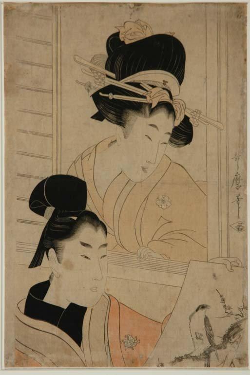 1002: Japanese Woodblock Print, Utamaro