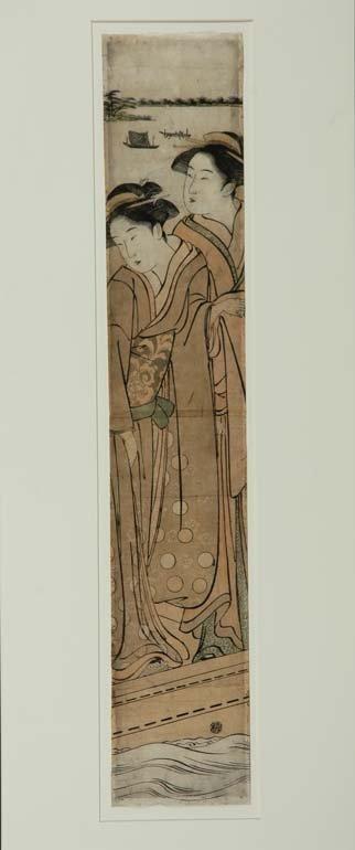 1006: Japanese Woodblock Pillar Print, Katsukawa Shunsh