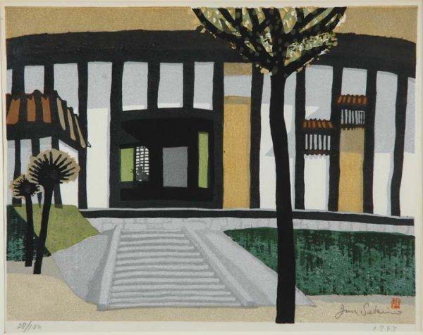 1011: Japanese Woodblock Print, Junichiro Sekino