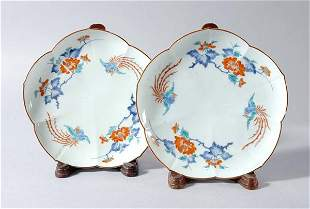 Pair of Japanese Kakiemon Dishes