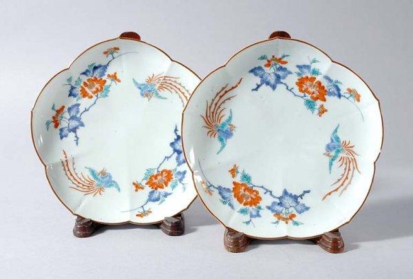 1012: Pair of Japanese Kakiemon Dishes