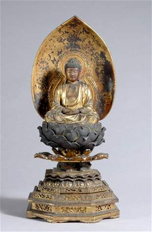 Japanese Gilt-Wood Buddha