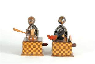 Two Japanese Wood Toys