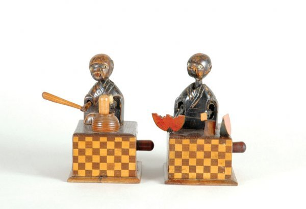1014: Two Japanese Wood Toys